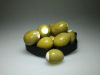 Griekse olijven met zachte kaas
